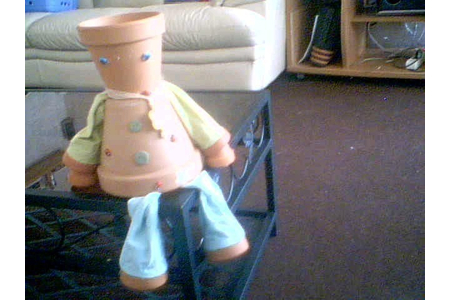 personnage pot de terre cuite - Divers - 10doigts.fr