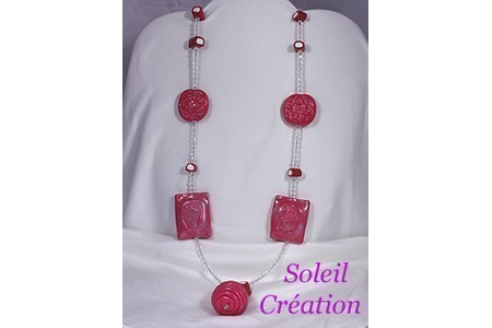 Pendentif Fimo Cristal - Perles, bracelets, colliers - 10doigts.fr