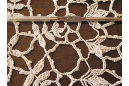 napperon au crochet - Laine - 10doigts.fr