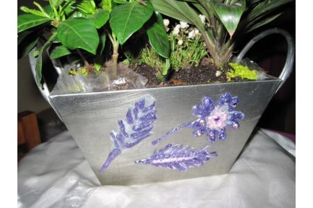 petit pot de fleurs decore - Déco de la table - 10doigts.fr
