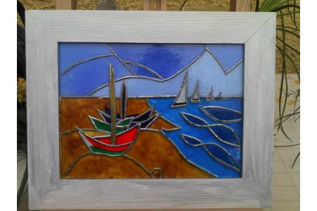 tableau Van Gogh façon vitrail - Peinture - 10doigts.fr