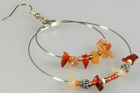 Boucle d'oreille créole - Perles, bracelets, colliers - 10doigts.fr