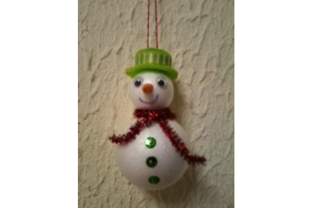 Petit bonhomme de neige - Pâques, Noël - 10doigts.fr