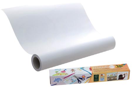Rouleau de papier adhésif repositionnable blanc - Support blanc – 10doigts.fr
