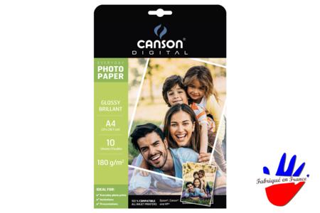 Papier photo Canson A4 - Lot de 10 feuilles - Albums photos, carnets – 10doigts.fr