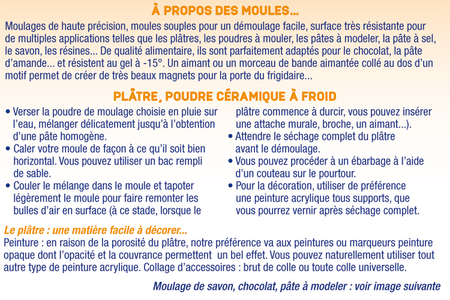 Moule 9 animaux - Moules – 10doigts.fr