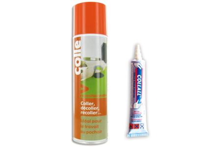 Colle repositionnable en aérosol ou en tube - Colles en aérosol – 10doigts.fr