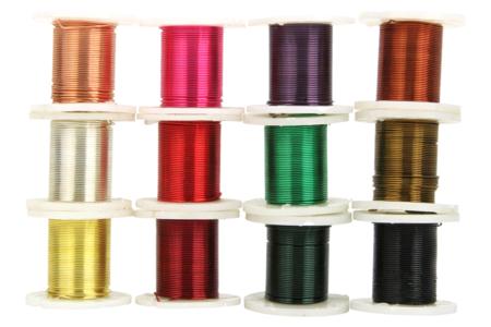Fil de cuivre coloré - 12 bobines - Fils aluminium – 10doigts.fr