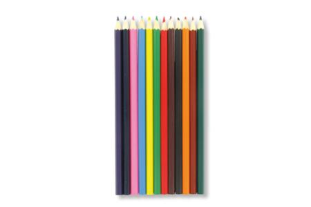 Crayons de couleur - Pochette de 12 - Crayons de couleurs – 10doigts.fr