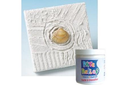 Pâte relief blanche effet 3D - 250 gr - Outils et accessoires – 10doigts.fr