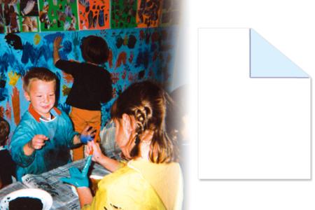 Papier Blanc-Bleu pour peinture - Rouleau de 10 mètres - Papiers et Carnets – 10doigts.fr