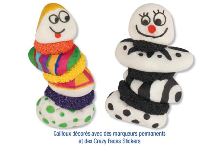Galets en marbre blanc à décorer - Sable – 10doigts.fr