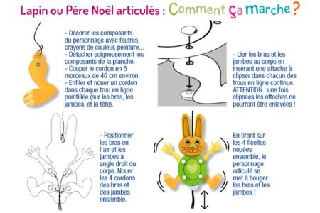 Mobile Père Noël articulé - Support pré-dessiné – 10doigts.fr