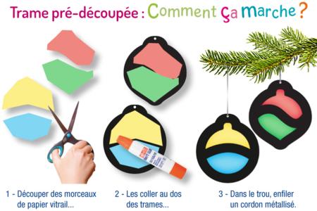 Trames vitrail pré-découpées - Noël et Pâques - Kits activités de Pâques – 10doigts.fr