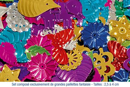 Paillettes géantes fantaisies - set de 150 - Paillettes fantaisie – 10doigts.fr
