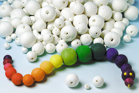 Boules en cellulose blanche - Boules cellulose – 10doigts.fr