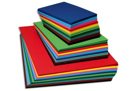 Papier uni grainé 220 gr - 10 couleurs assorties - Ramettes de papiers – 10doigts.fr