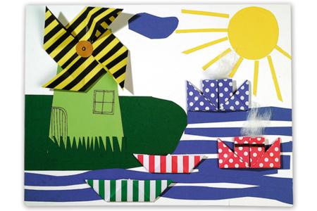Papiers imprimés à motifs recto/verso- couleurs assorties - Set de 100 - Papiers Origami – 10doigts.fr