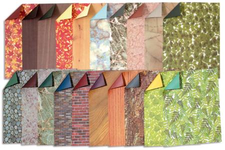 Feuilles papier motif nature - Set de 40 - Papier artisanal naturel – 10doigts.fr