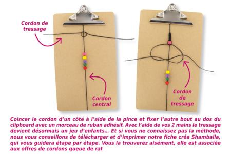 Shamballas... avec des perles craquelées et métal pailleté - Bijoux Shamballas – 10doigts.fr