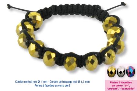 Shamballas... avec des perles à facettes en verre - Bijoux Shamballas – 10doigts.fr
