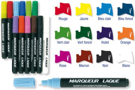 Marqueurs Permanents à laque brillante - Feutres Marqueurs dessin – 10doigts.fr