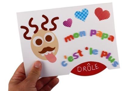 Carte disque mobile - Fête des Pères – 10doigts.fr