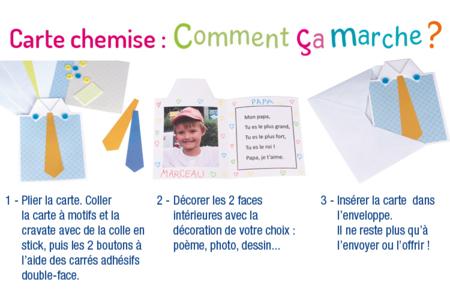 """Cartes """"Chemise bonne fête papa"""" - Lot de 4 - Carterie – 10doigts.fr"""