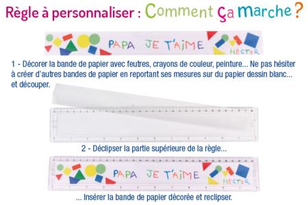 Règle à personaliser - Transparent – 10doigts.fr