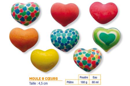 Moule 8 coeurs - Moules – 10doigts.fr