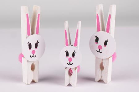 Lapin pince à linge - Pâques – 10doigts.fr