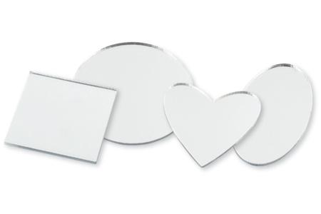 Miroirs coeur, rond, carré ou ovale - Lot de 6 - Miroirs – 10doigts.fr