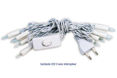 Guirlande circulaire avec interrupteur - 10 ampoules - Guirlandes – 10doigts.fr