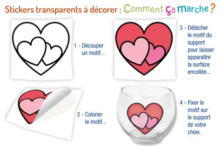 Stickers transparents à colorier Pâques - Décorations et accessoires de Pâques – 10doigts.fr