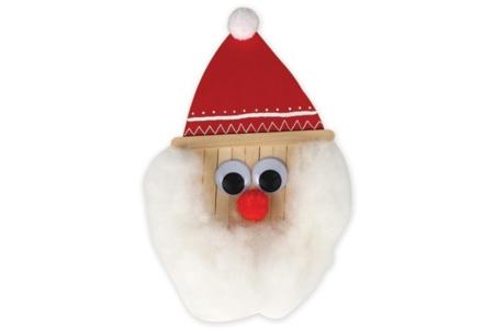 Père Noël en bâtonnets - Noël – 10doigts.fr