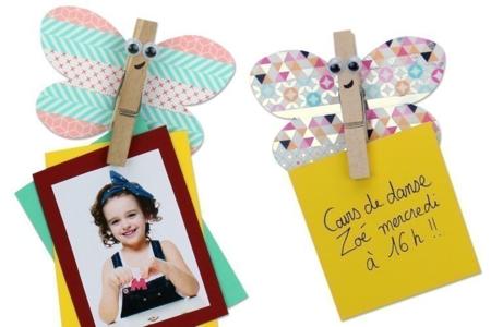 Magnet papillon avec une pince à linge - Activités enfantines – 10doigts.fr