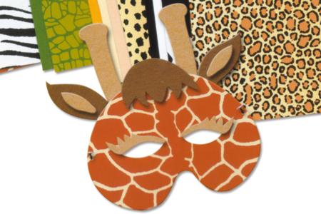 Bloc de feuilles et cartes papiers animaux - Papiers motifs animaux – 10doigts.fr