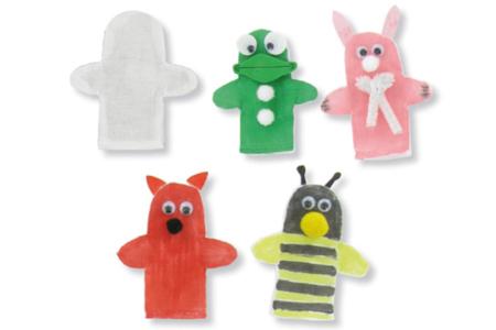 Marionnettes en coton - set de 6 - Coton, lin – 10doigts.fr