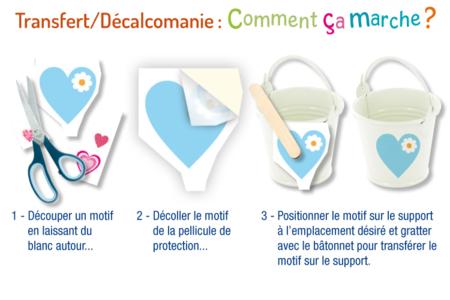 Transferts décalcomanies - Cœurs fantaisies - Transferts, décalcomanies – 10doigts.fr