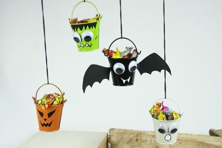 Mini seaux à bonbons pour Halloween - Halloween – 10doigts.fr
