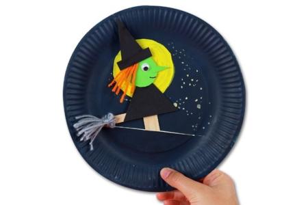 Marionnette sorcière - Halloween – 10doigts.fr