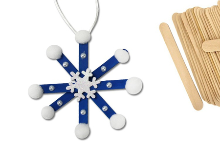 Flocons de neige en bâtonnets - Noël – 10doigts.fr