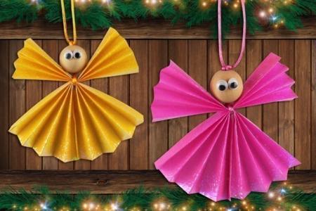 Anges de Noël en papier - Noël – 10doigts.fr