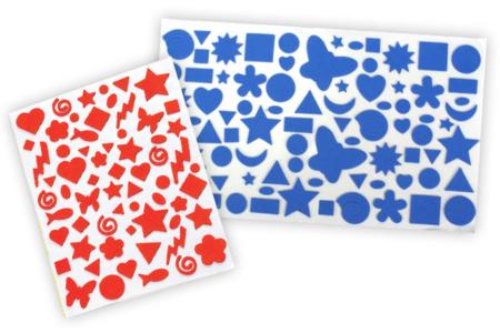 Stickers en caoutchouc souple - assortiment géant - Stickers en caoutchouc souple – 10doigts.fr