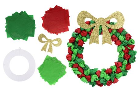 Couronne de Noël en papier de soie - Lot de 6 - Décoration de Noël – 10doigts.fr