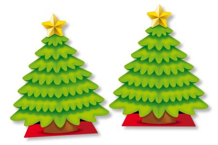 Sapin géant 3D + 98 gommettes - Décoration de Noël – 10doigts.fr