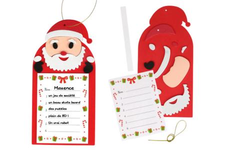 """""""Ma liste pour le Père Noël"""" - Décoration de Noël – 10doigts.fr"""