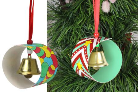 Boule de Noël à clochette - Décoration du sapin – 10doigts.fr