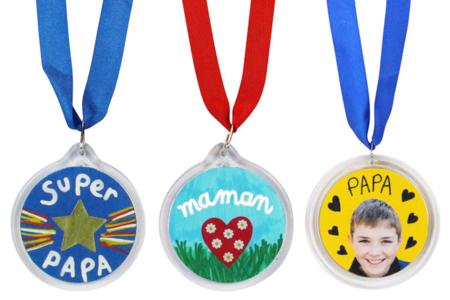 Médailles à personnaliser - 6 pcs - Transparent – 10doigts.fr