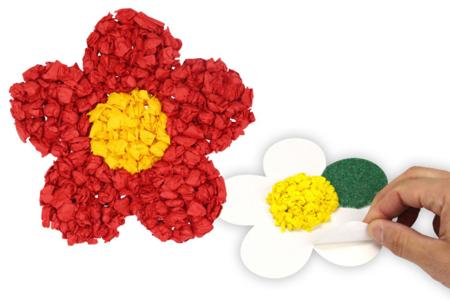 Cartes fortes auto-adhésives - 3 coeurs + 3 fleurs - Cartes fantaisies – 10doigts.fr